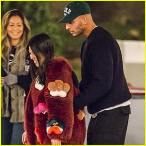 Kourtney Kardashian & Boyfriend Younes Bendjima Go on a Romantic Ice Skating Date!