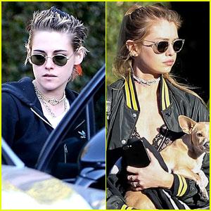 Kristen Stewart & Girlfriend Stella Maxwell Couple Up for Lunch Date