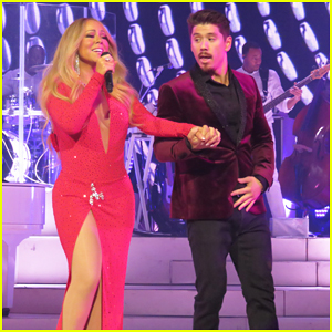 Mariah Carey Is Joined By Boyfriend Bryan Tanaka & Her Twins at Las Vegas Holiday Show!