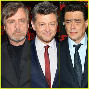 Mark Hamill, Anthony Serkis, & Benicio Del Toro Attend 'Last Jedi' Premiere