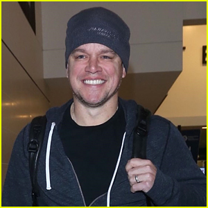 Matt Damon Greets Fans While Leaving LAX Airport