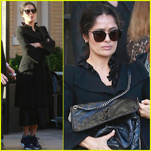 Salma Hayek Looks Chic While Shopping in Beverly Hills