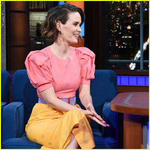Sarah Paulson Tells Stephen Colbert She's Had 'Twitchy Eye' Since Inauguration Day!