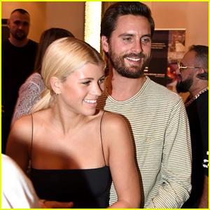 Scott Disick Cuddles Up to Girlfriend Sofia Richie at Art Basel Event