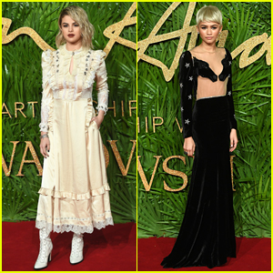 Selena Gomez & Zendaya Are Blonde Bombshells at Fashion Awards 2017