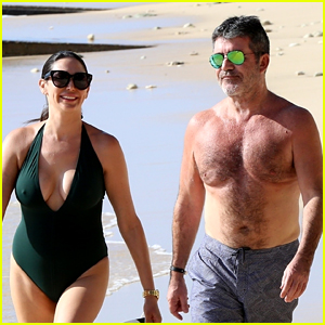 Simon Cowell Goes Shirtless at the Beach with Longtime Love Lauren Silverman