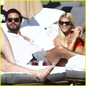 Sofia Richie & Scott Disick Couple Up for Beach Day Together