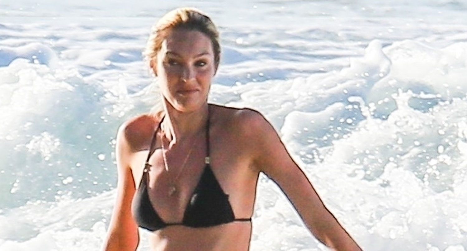 Pregnant Candice Swanepoel Makes A Splash In Her Bikini