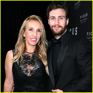 Aaron Taylor-Johnson & Wife Sam Hit Up Golden Globes 2018 After Party
