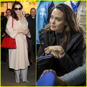 Angelina Jolie Jets to Paris After Trip to Jordan to Meet Refugees