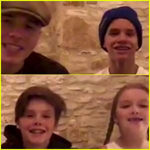 David Beckham Gets Showered in Love by Victoria Beckham & Their Kids Following MLS Miami Announcement - Watch Now!