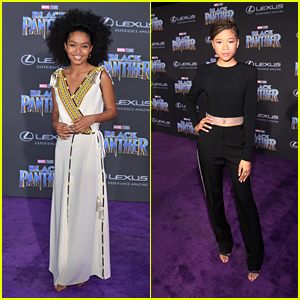Yara Shahidi & Storm Reid Attend the 'Black Panther' Premiere in Hollywood!