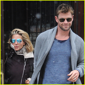 Chris Hemsworth & Wife Elsa Pataky Brave the Snow in NYC