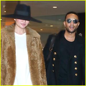 Chrissy Teigen & John Legend Return Home After Tokyo Flight Fiasco