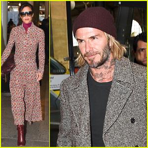 David & Victoria Beckham Arrive in Paris Together