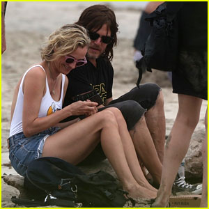 Diane Kruger & Norman Reedus Cuddle on the Beach in Costa Rica - See the Pics!