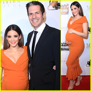 Devious Maids' Edy Ganem Cradles Baby Bump at 'Created Equal' Premiere!