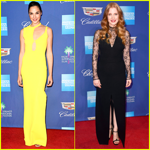 Gal Gadot & Jessica Chastain Step Out in Style for Palm Springs Film Festival