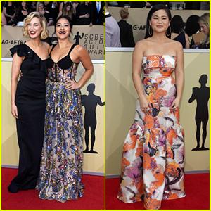 Presenters Gina Rodriguez & Kelly Marie Tran Hit the Red Carpet at SAG Awards 2018!