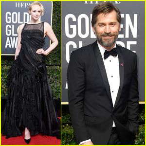 Gwendoline Christie & Nikolaj Coster Bring 'Game of Thrones' to Golden Globes 2018