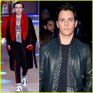 James Marsden Watches Son Jack Walk in Dolce&Gabbana's Milan Show!