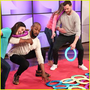 Jamie Dornan se levanta Cerca de & Personal con Ventilador en 'Ellen's Twister Hunky Jaleo de Juego - Ver Aquí!