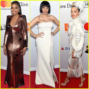 Jennifer Hudson, Cardi B, & Rita Ora Go Glam for Pre-Grammys Party
