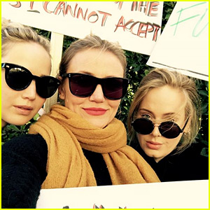 Jennifer Lawrence, Cameron Diaz, & Adele Join Forces at Women's March 2018!