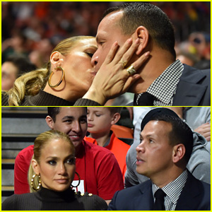 Jennifer Lopez & Alex Rodriguez Kiss Courtside on the Kiss Cam!