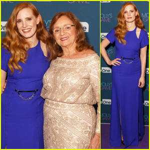 Jessica Chastain Brings Grandmother Marilyn to 'Molly's Game' Australian Premiere!