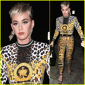 Katy Perry Grabs Dinner with Friends in WeHo
