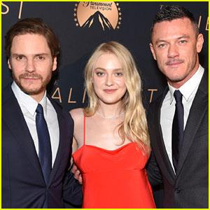 Luke Evans, Dakota Fanning, & Daniel Bruhl Premiere 'The Alienist' in LA