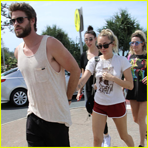 Miley Cyrus Heads Out With Liam Hemsworth Before His 28th Birthday