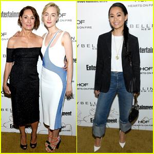 Saoirse Ronan, Laurie Metcalf, & Hong Chau Celebrate SAG Nominations at EW's Party