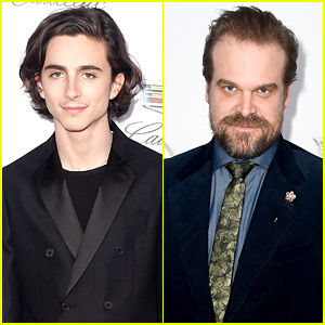 Timothee Chalamet & David Harbour Suit Up at PGA Awards 2018