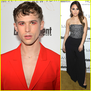 13 Reasons Why's Tommy Dorfman Wears Fire Inspired Eye Makeup To EW's SAG Party