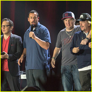 Adam Sandler is Joined at His Show by Pals Rob Schneider