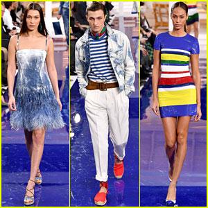 Bella Hadid, Anwar Hadid, & Joan Smalls Slay the Catwalk at Ralph Lauren Fashion Show