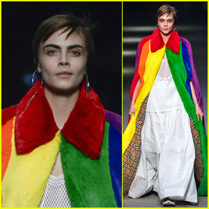 Cara Delevingne Returns to the Runway in Burberry Fashion Show!