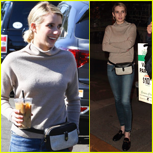 Emma Roberts Rocks a Fanny Pack While Out in WeHo
