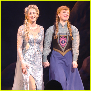 Caissie Levy & Patti Murin Take Bows at First 'Frozen' Preview on Broadway (Photos)