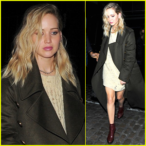 Jennifer Lawrence Steps Out for Dinner in London