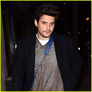 John Mayer Sports a Louis Vuitton Bag While Dining at Craig's