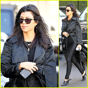 Kourtney Kardashian Looks Chic in a Full-Length Black Trench While Heading to an Appointment!