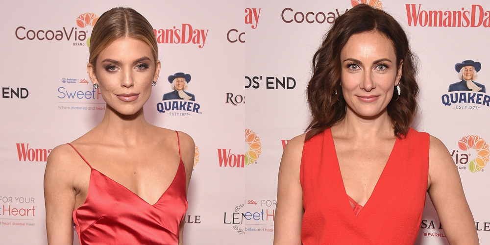 Annalynne Mccord Amp Laura Benanti Are Red Hot For Red Dress