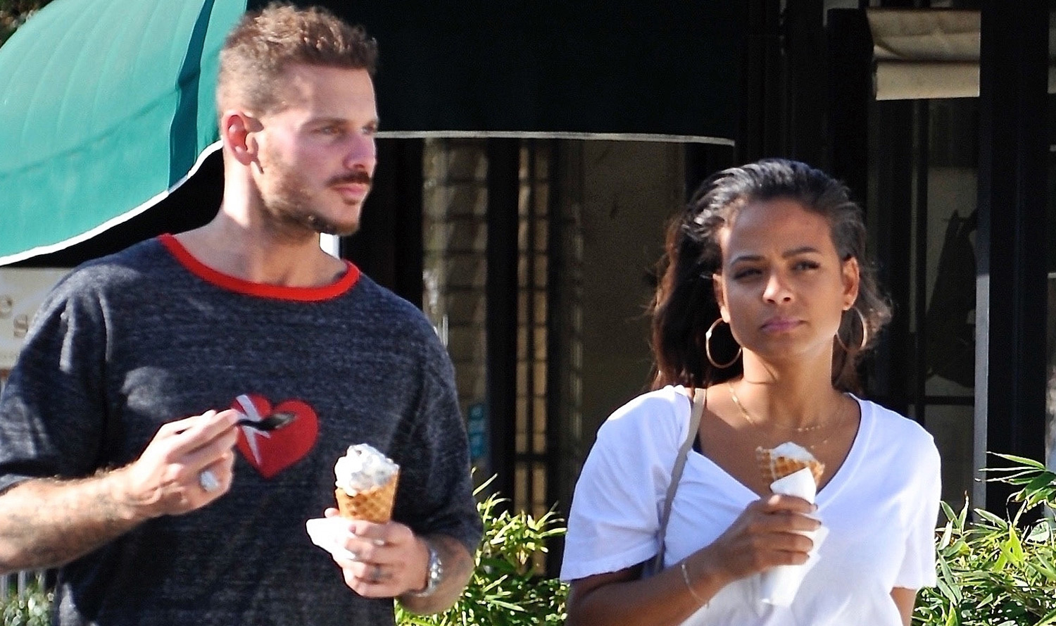 Christina Milian & Boyfriend Matt Pokora Grab Ice Cream in ...