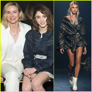 Naomi Watts & Natalia Dyer Watch Hailey Baldwin Walk in NYFW Show!
