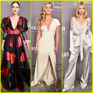 Rachel Brosnahan, Nina Agdal & Elsa Hosk Stun On Carpet at amfAR Gala 2018!