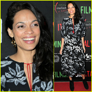 Rosario Dawson Steps Out for Social Justice Filming In Italy Awards