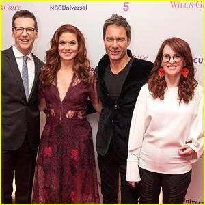 Sean Hayes, Debra Messing, Eric McCormack, & Megan Mullally Promote 'Will & Grace' in London